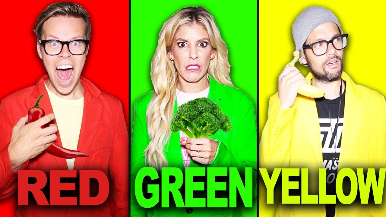 Last To STOP Eating Their Colored Food Challenge! | Matt and Rebecca
