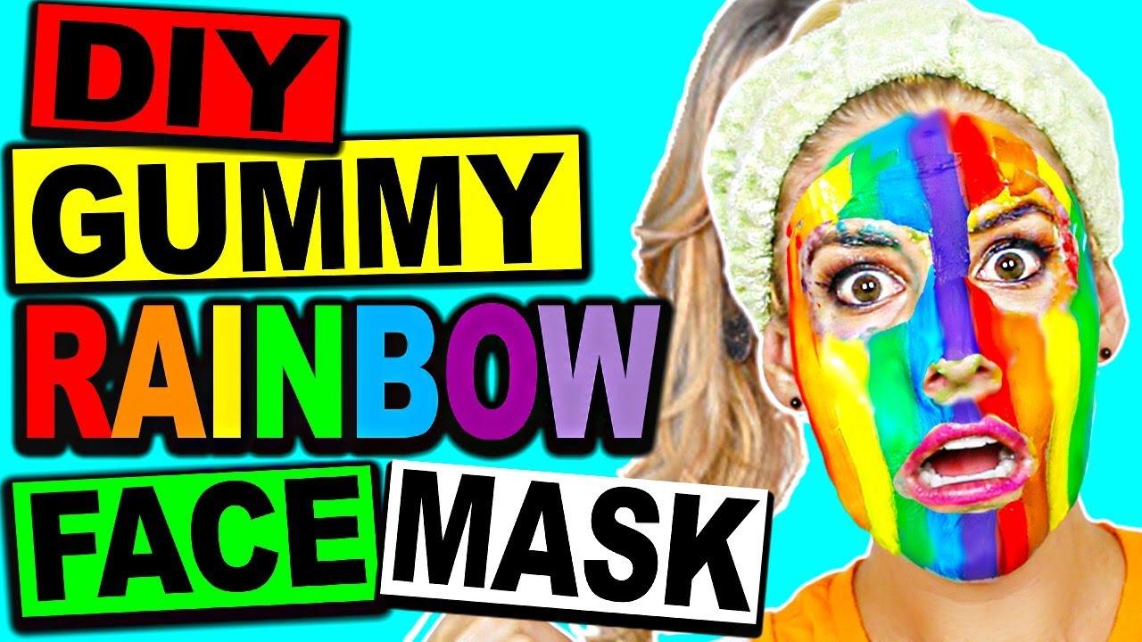 DIY GUMMY EDIBLE RAINBOW FACE MASK!!