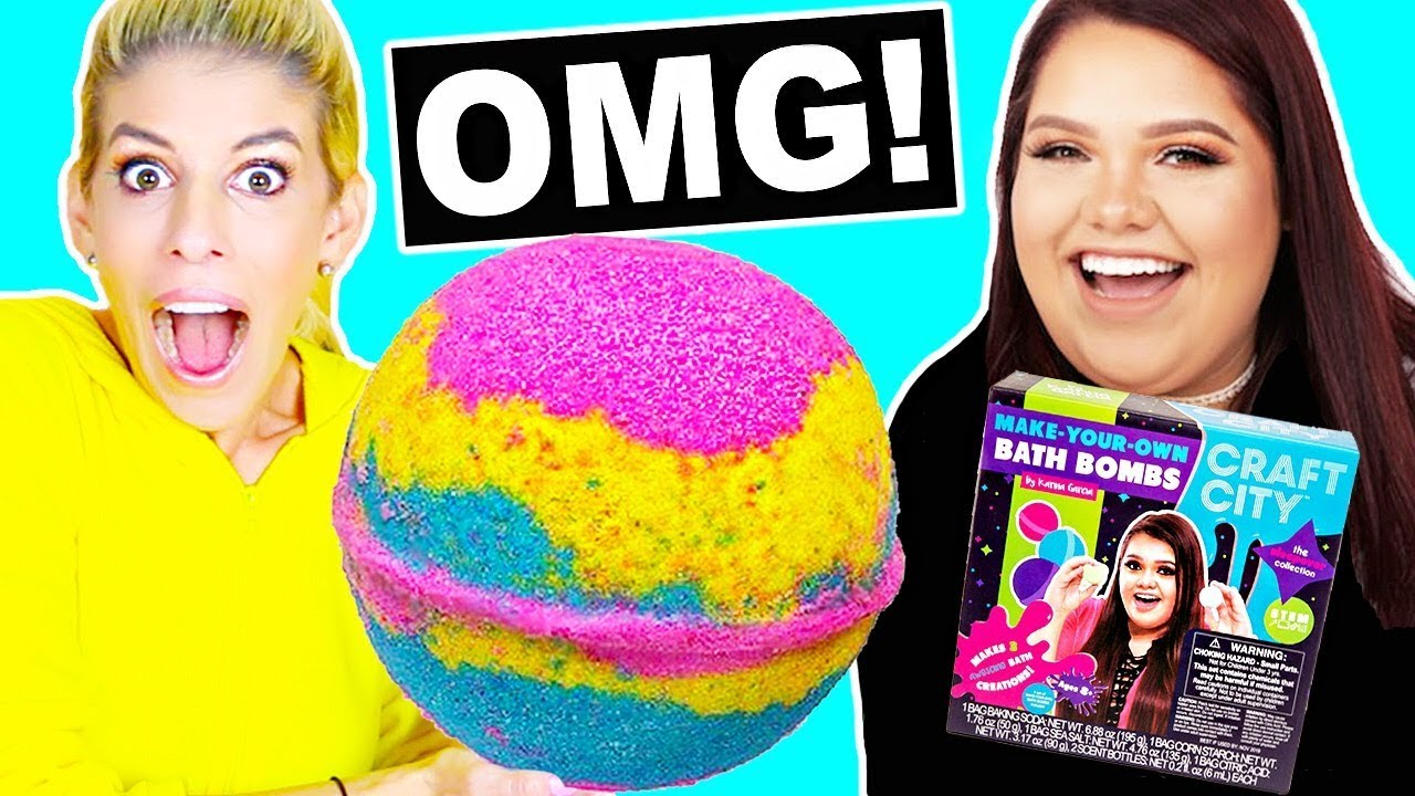 DIY Giant Bath Bomb with Karina Garcia Bath Bomb Kit! *Satisfying*