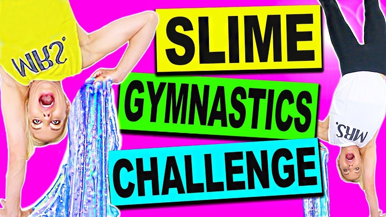 DIY Slime Gymnastics Challenge (Making Slime Upside Down)