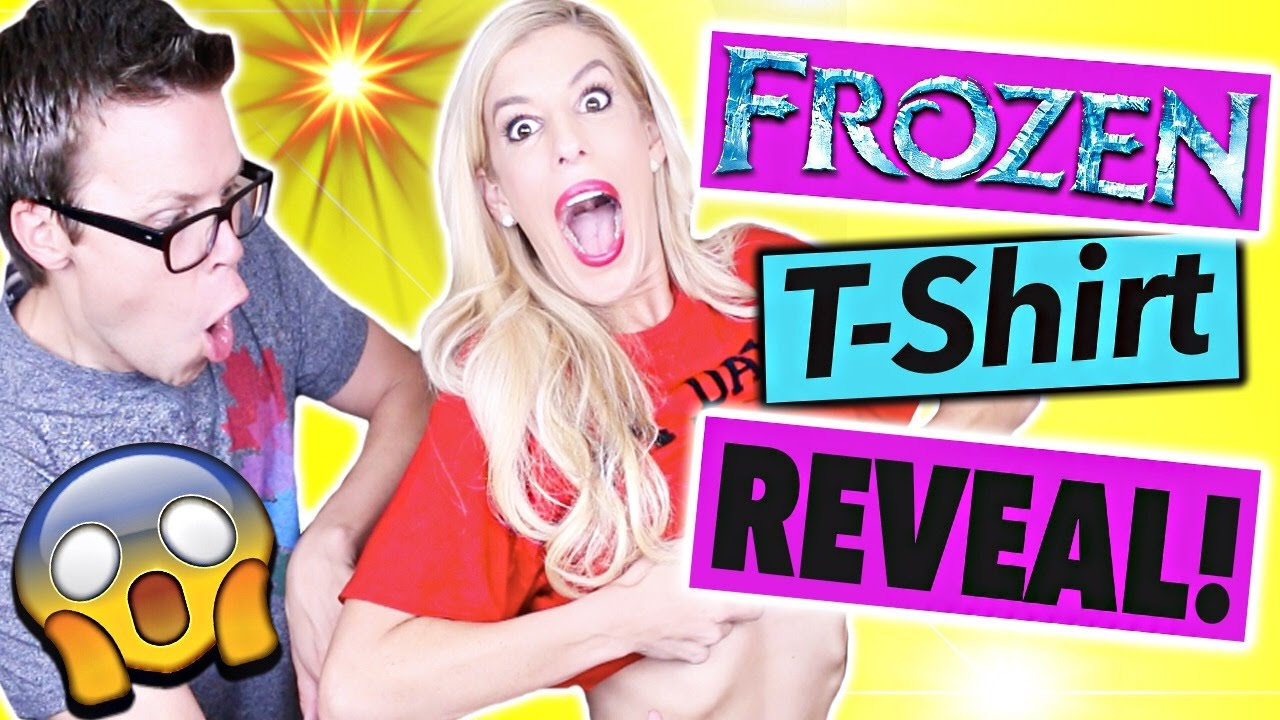 FROZEN T-SHIRT CHALLENGE w/ EXCITING REVEAL!!
