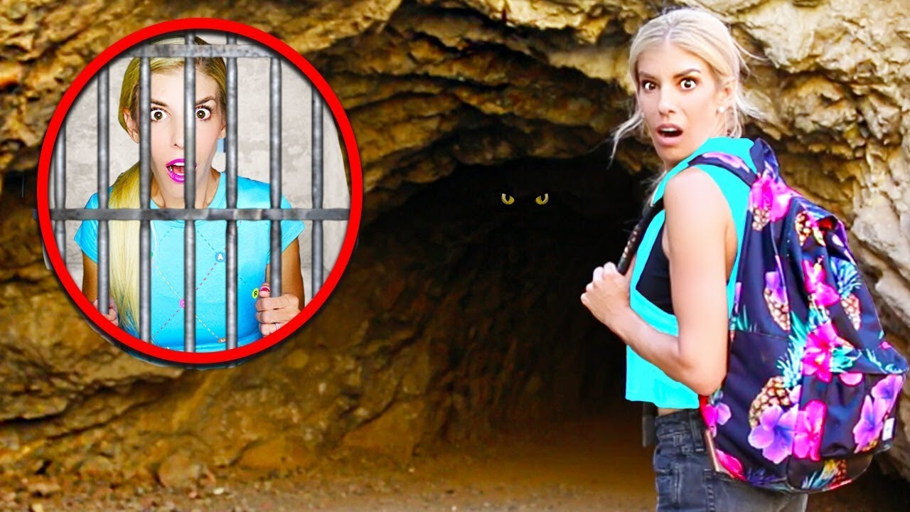 Finding SECRET Hidden Message while EXPLORiNG ABANDONED CAVE! (trapped overnight)
