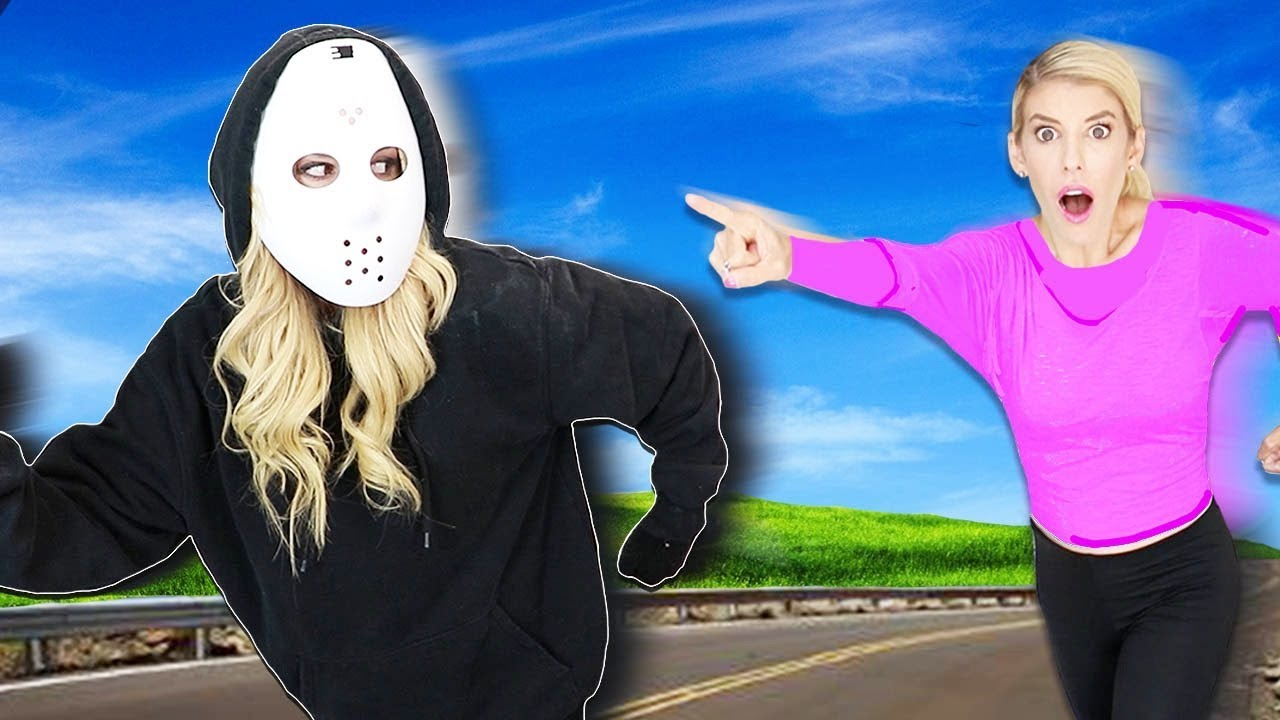 GAME MASTER has a REBECCA ZAMOLO Twin Disguise! (New Hidden Camera Face Reveal in My House)