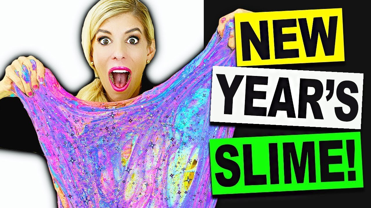 Giant DIY New Year's Slime! Mixing and Unboxing Fan's Slime *Satsifying*