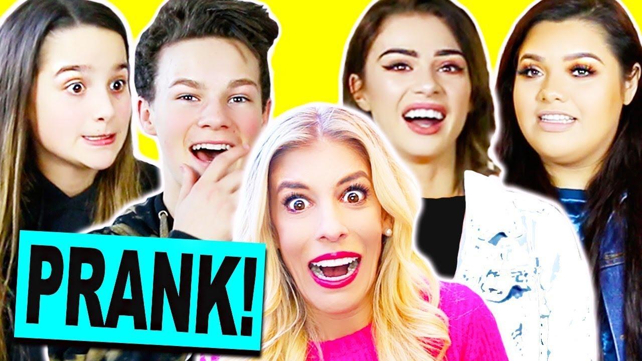 Pranking YouTubers With My Fake Song! (Annie Leblanc, Hayden Summerall, Karina Garcia, Bratayley,,)