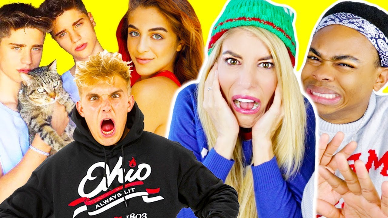 Reacting To YouTubers Cringy Holiday Songs with DangMattSmith!