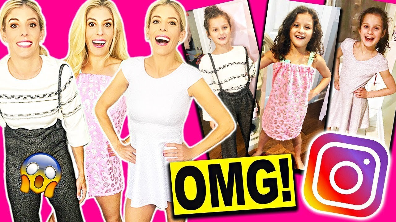 TRYING ON KIDS CLOTHING! RECREATING HAYLEY LEBLANC'S INSTAGRAM PHOTOS!
