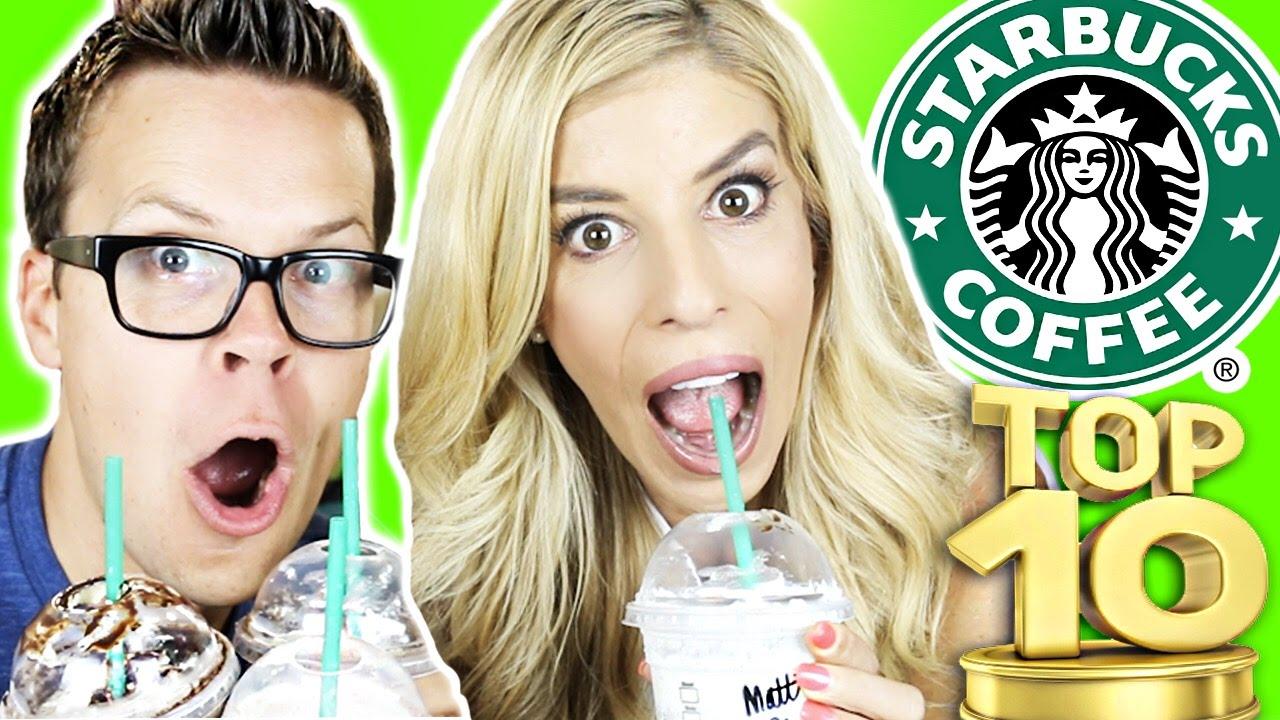 Trying Starbucks TOP 10 Secret Menu Frappuccinos!