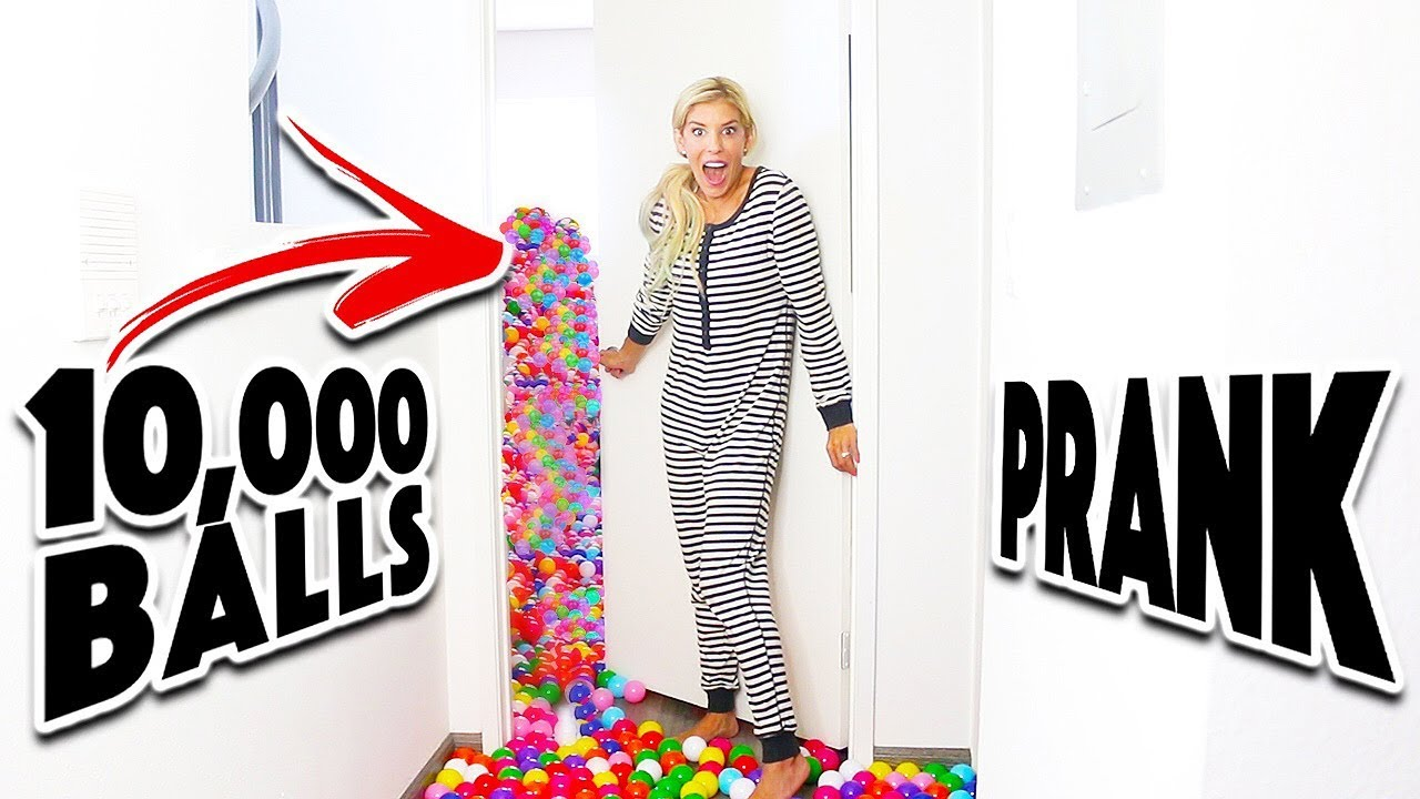 10,000 Ball Pit Surprise In Matt's Room! (Prank Wars)