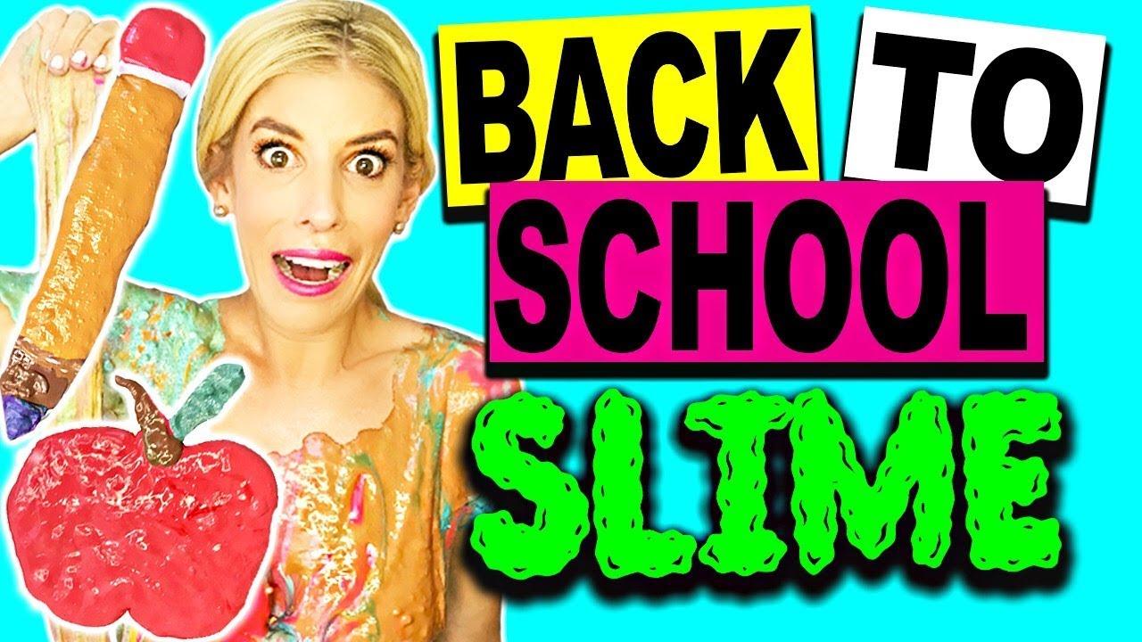 DIY BACK TO SCHOOL SLIME AND ROOM TOUR! (NO BORAX)