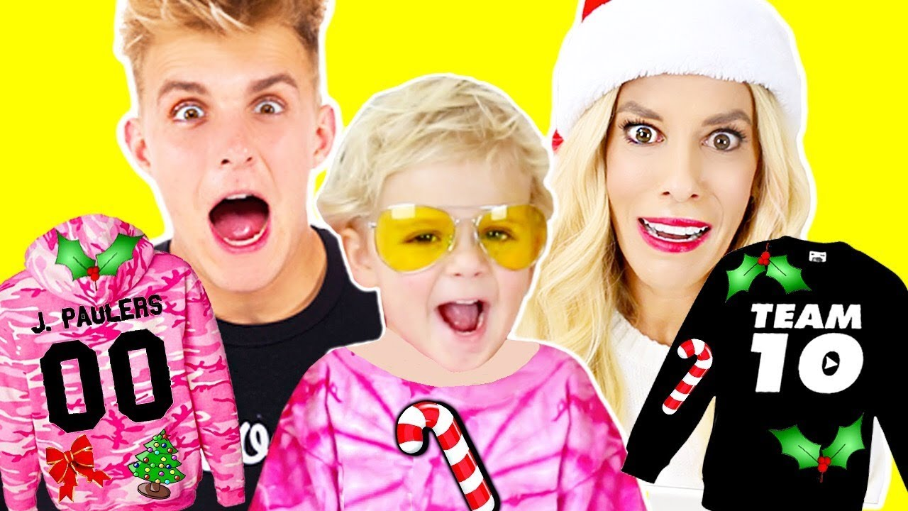 DIY Jake Paul Ugly Christmas Sweater Challenge with Mini Jake Paul!