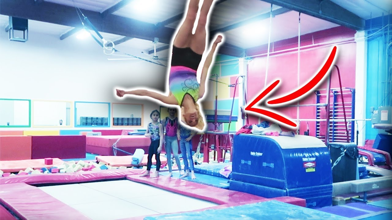Gymnastics Stick it Challenge with Real Gymnasts Comp.
