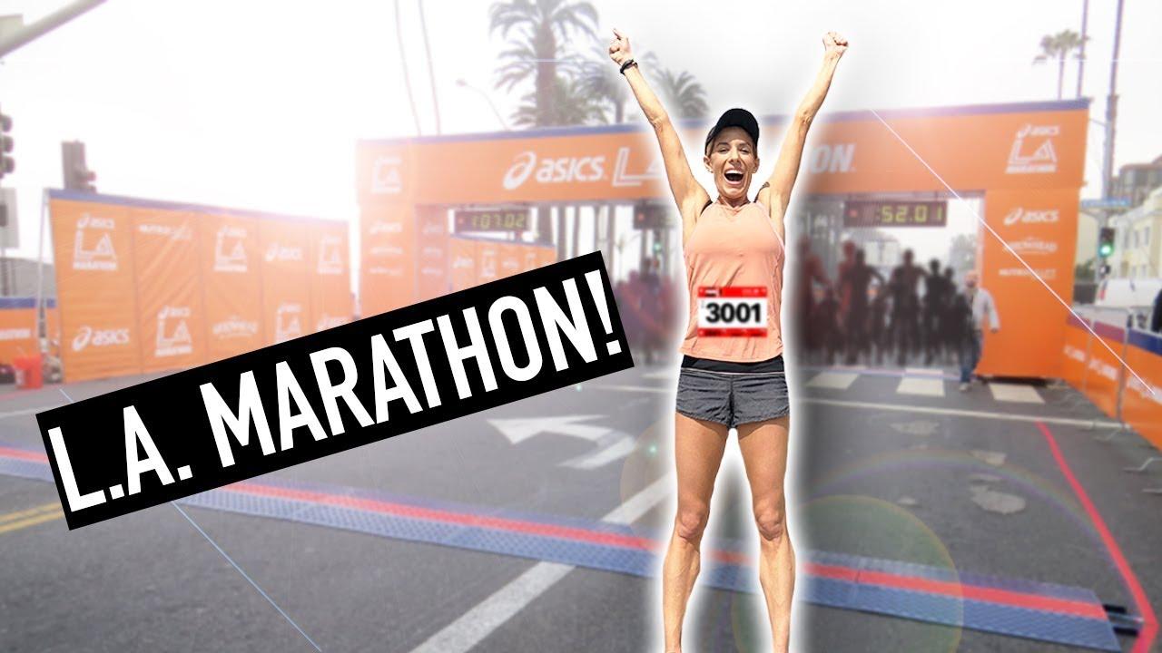 I Didn't Think She Would Do This! Rebecca Runs the LA Marathon