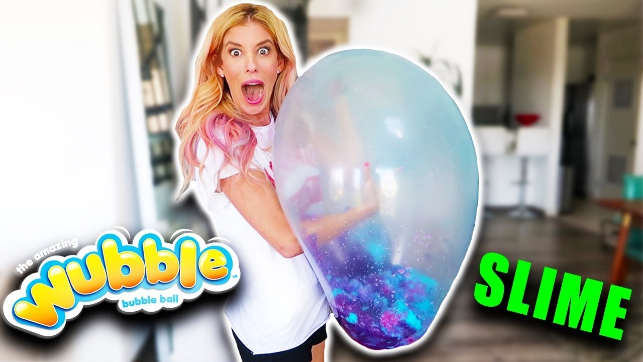 I Didn't Think We Could Do This! Giant Wubble Bubble Full of Slime & Gelli