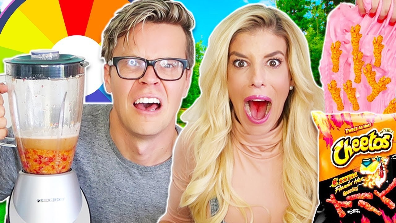 Mystery Wheel of Slime Vs. Smoothie Challenge!