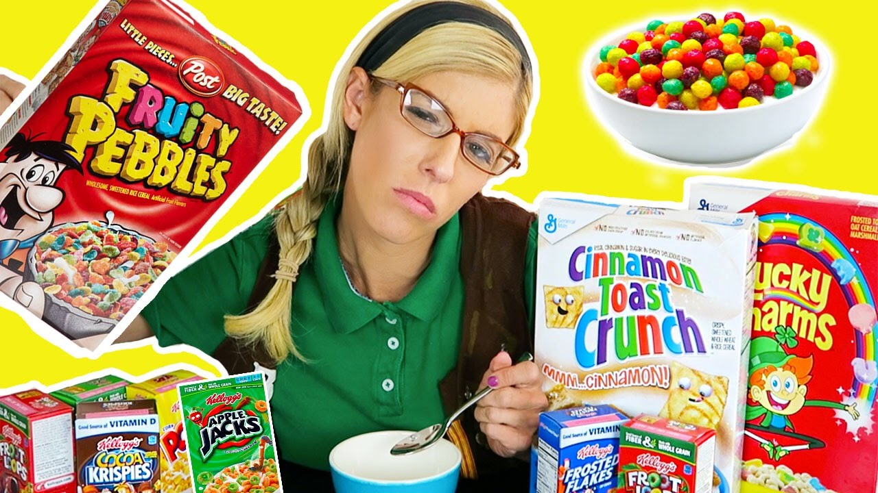 Tasting Kid Cereals w/ Beatrice Mumblesteen