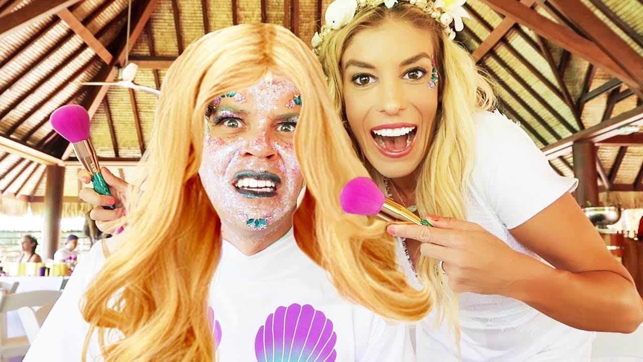 Transforming my husband into a Mermaid Challenge!