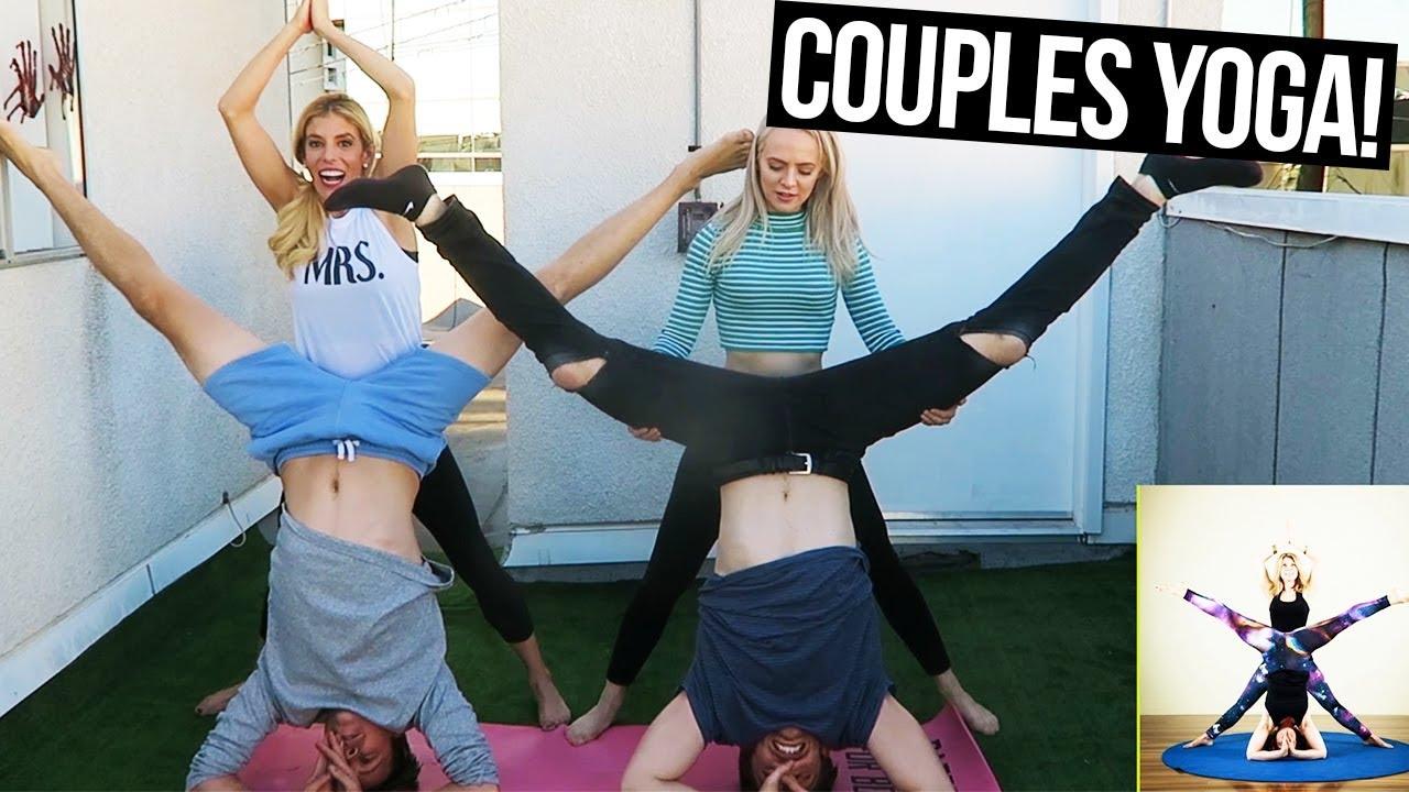ULTIMATE COUPLES YOGA CHALLENGE! COUPLE VS. COUPLE  (Day 344)