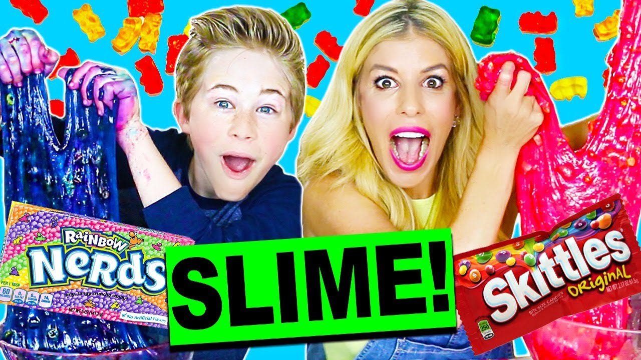 DIY GIANT CANDY SLIME CHALLENGE!! (WITHOUT BORAX)
