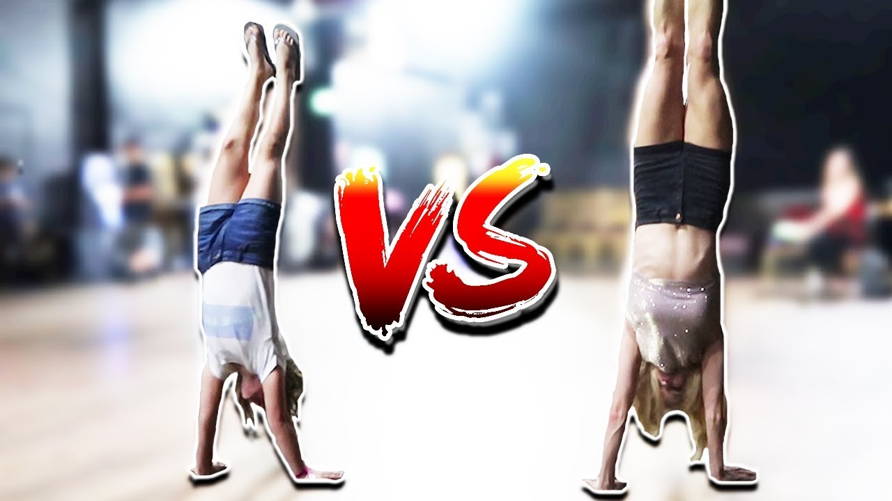 FORMER GYMNAST VS. CURRENT GYMNAST GYMNASTICS CHALLENGE AT THE BROOKLYN & BAILEY CONCERT! (DAY 297)