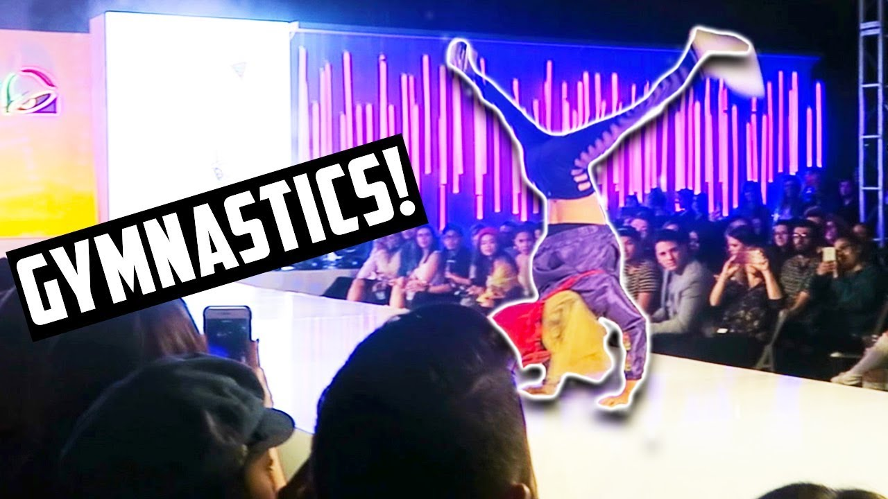 GYMNASTICS ON THE RUNWAY AT A FASHION SHOW! (DAY 282)