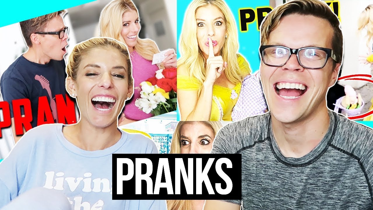 PRANKING EACH OTHER! PRANK WARS!!!! (RIDICULOUS REACTIONS)