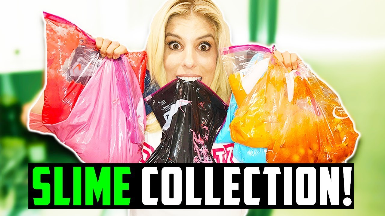 REBECCA'S GIANT SLIME COLLECTION! (DAY 284)