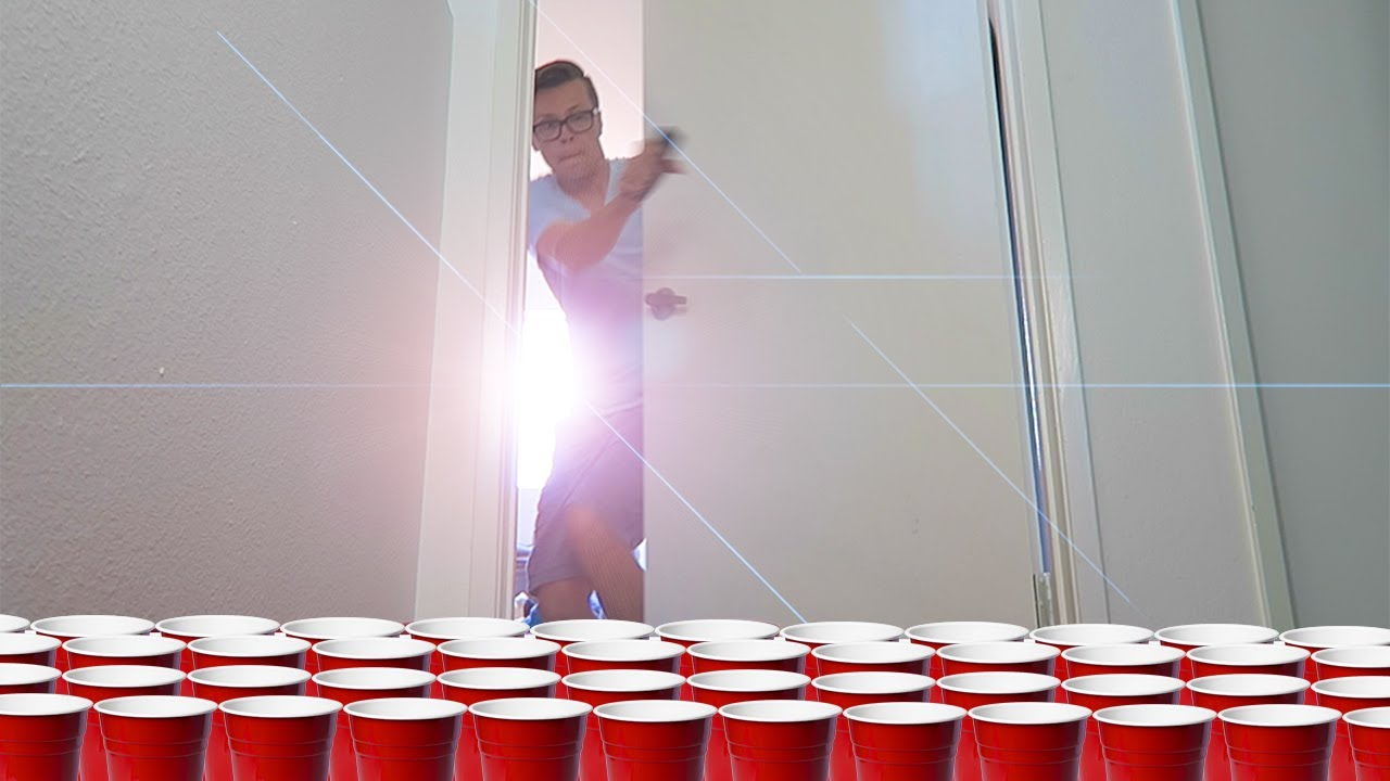 REVENGE PRANK ON HUSBAND WITH RED CUPS (10,000 RED CUPS)