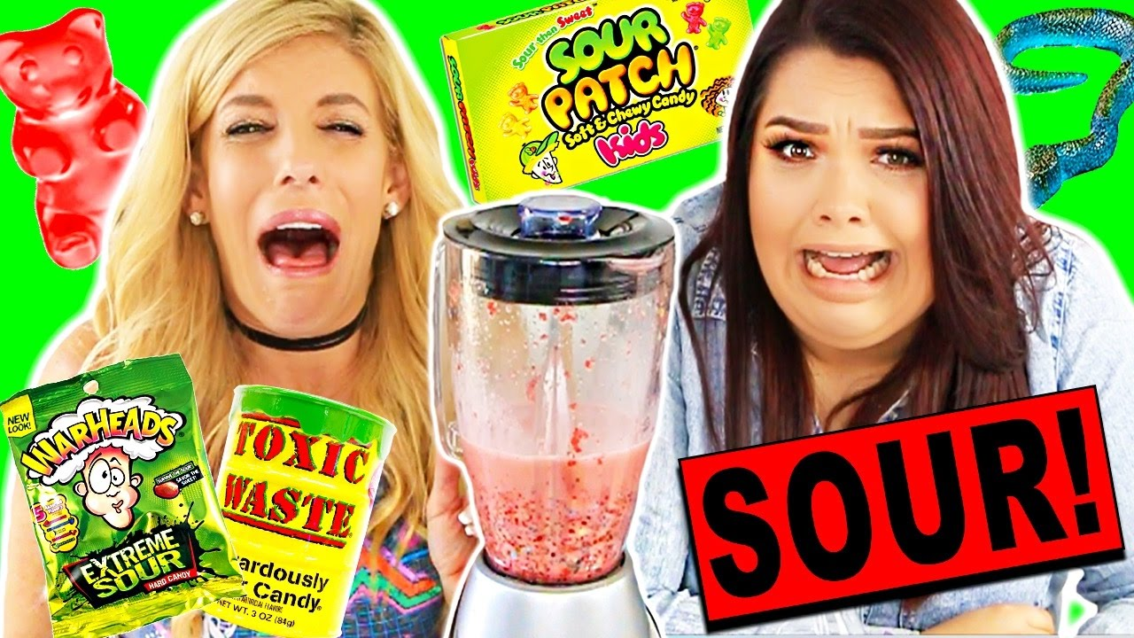 SOUREST GUMMY DRINK IN THE WORLD CHALLENGE! (Toxic Waste, Warheads, Citric Acid)