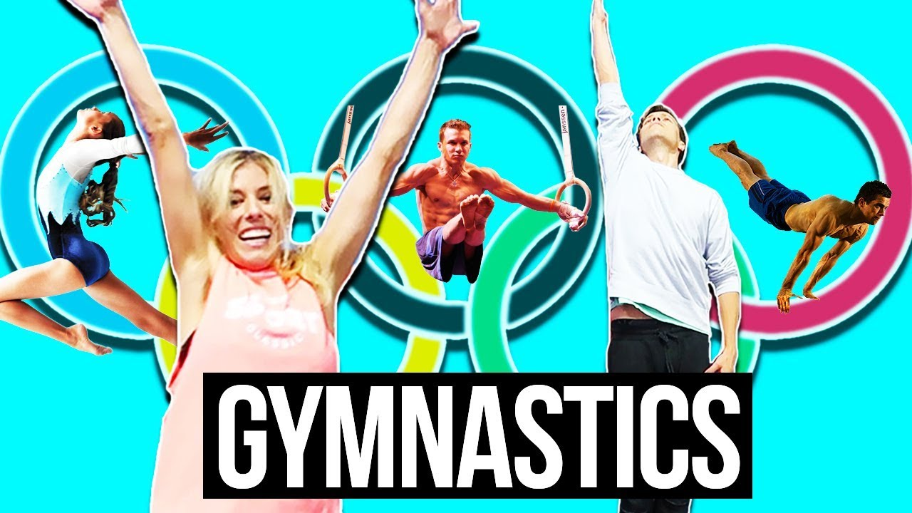WIFE TEACHES HUSBAND GYMNASTICS CHALLENGE (FAIL REACTION)