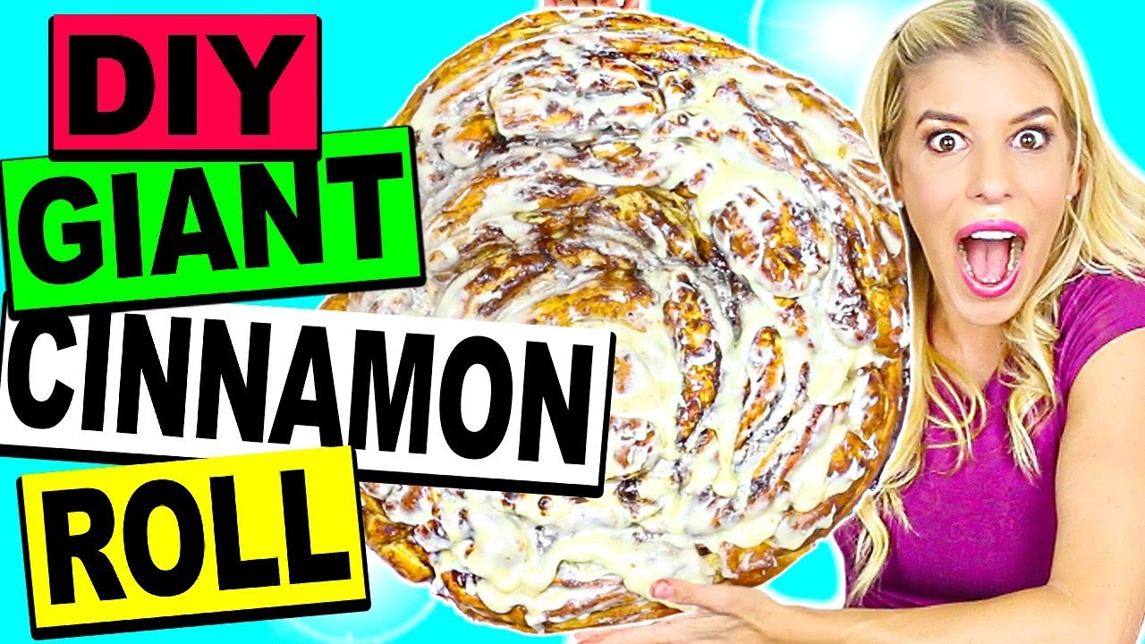 DIY WORLD'S LARGEST GIANT CINNAMON ROLL! (20lbs!)