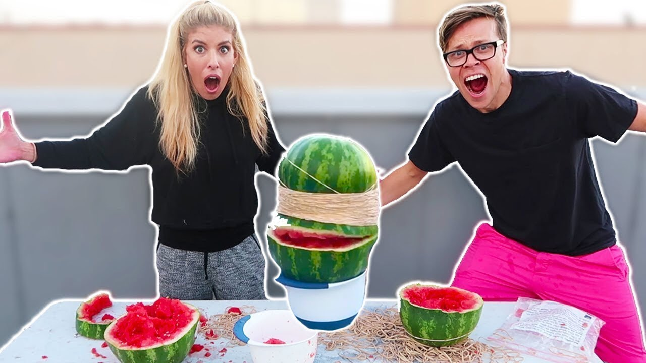 EXPLODING WATERMELON CHALLENGE (DAY 219) DIY