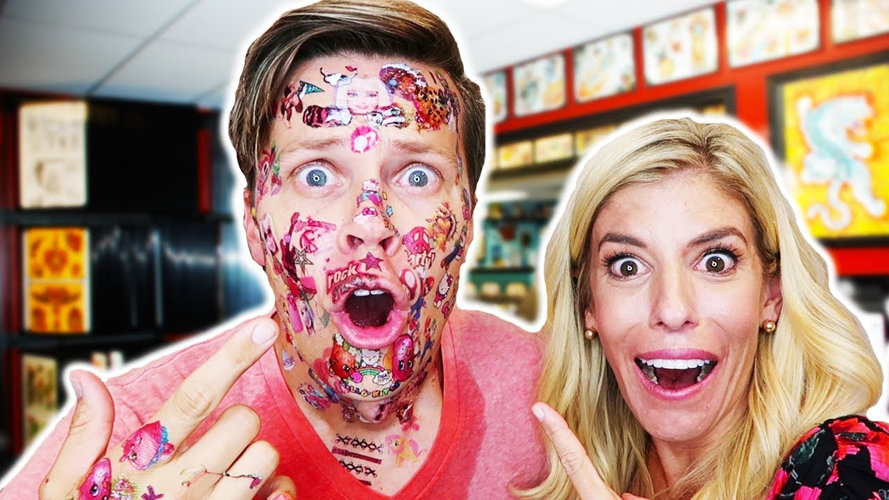 FACE FULL OF TATTOOS!  DARE CHALLENGE GONE WRONG!!!