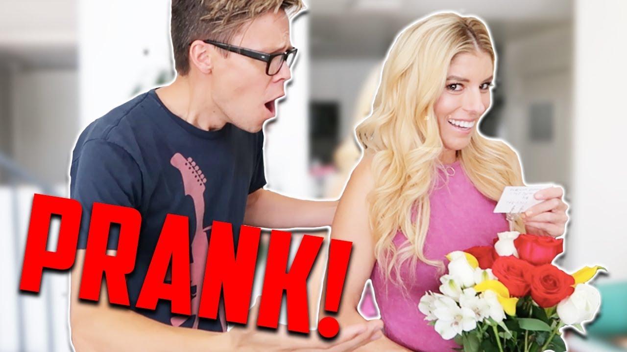 PRANKING HUSBAND WITH FLOWERS FROM EX BOYFRIEND!