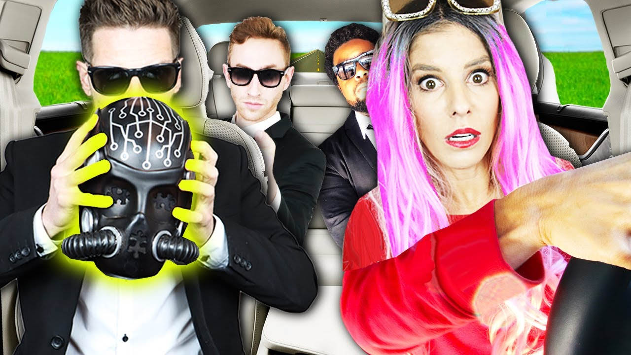 Picked up GAME MASTER Inc. Up in an UBER under Disguise with Matt! (bad idea) | Rebecca Zamolo