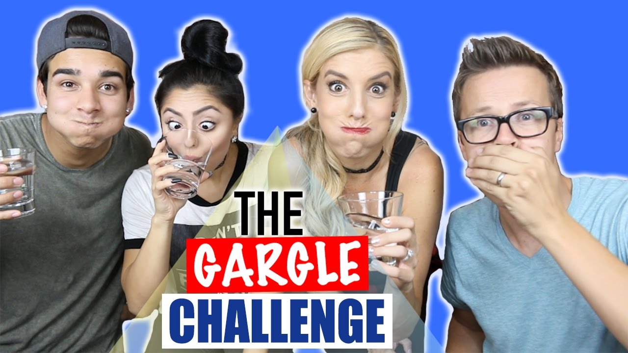 THE GARGLE CHALLENGE w/ Rebecca Zamolo, Jazmine & Nick