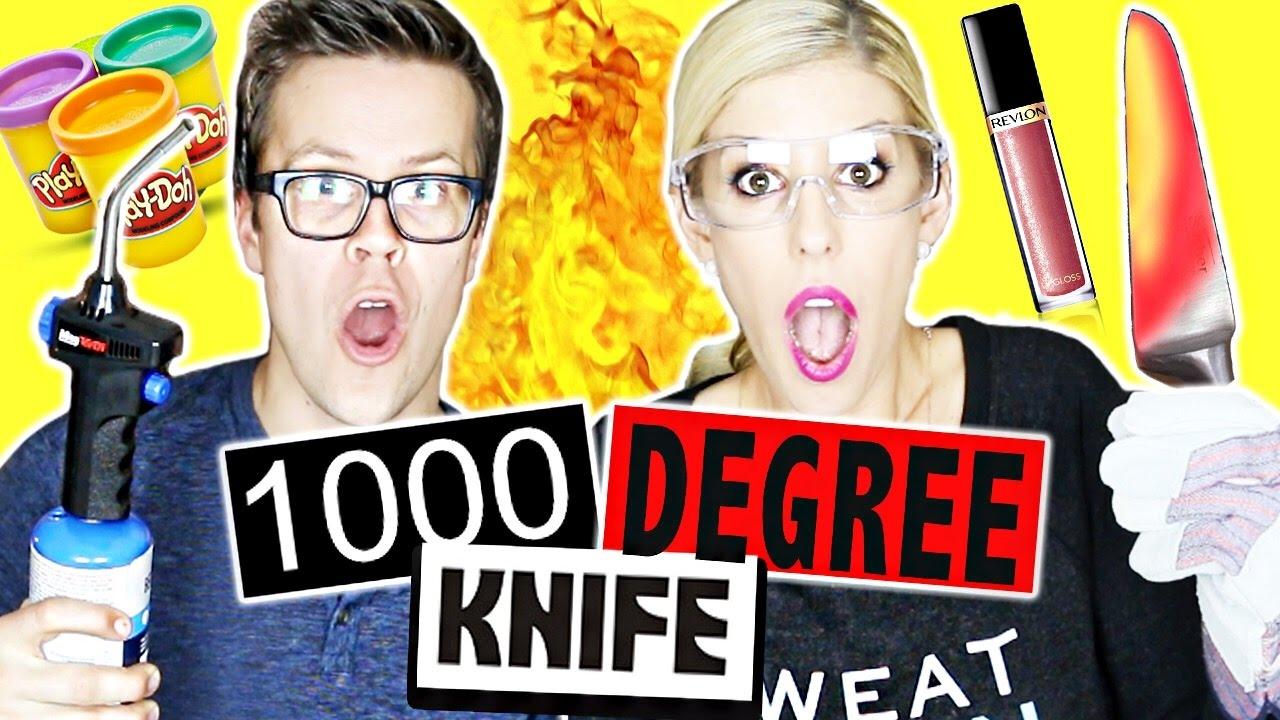 CUTTING THINGS OPEN WITH 1000 DEGREE KNIFE!!!