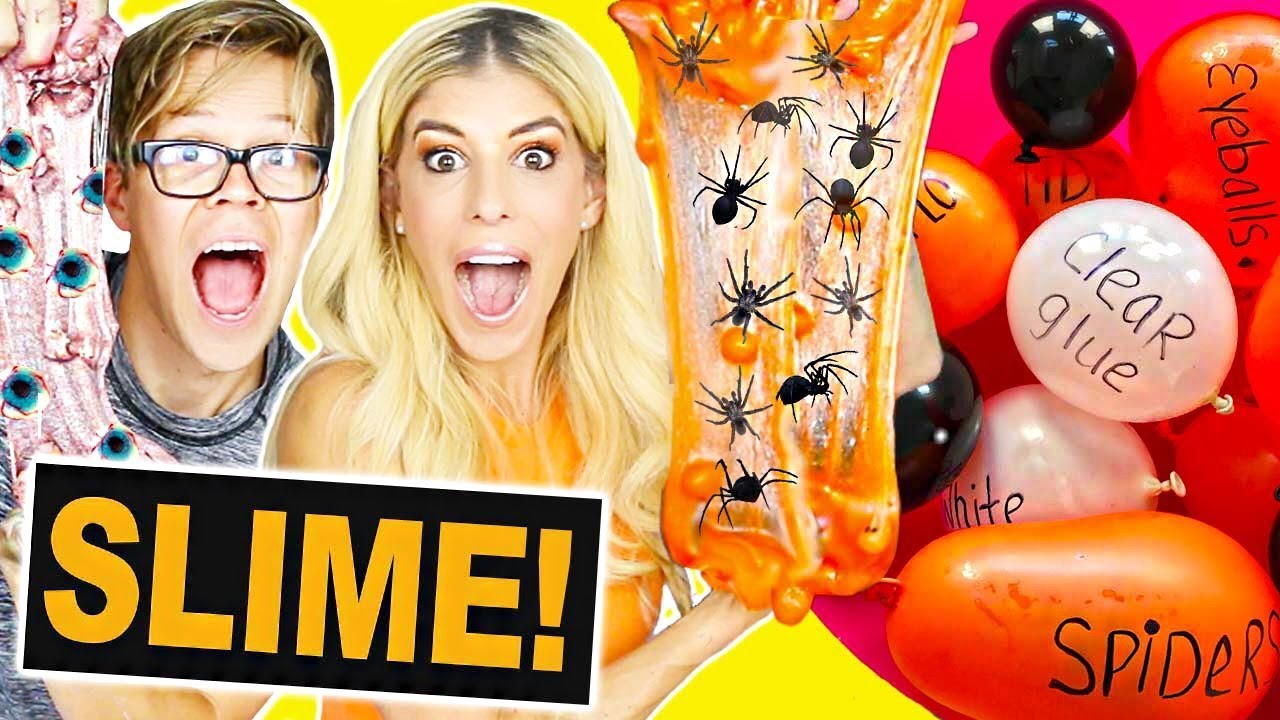 DIY Balloon Slime Halloween Challenge! (Making Slime with Balloons)
