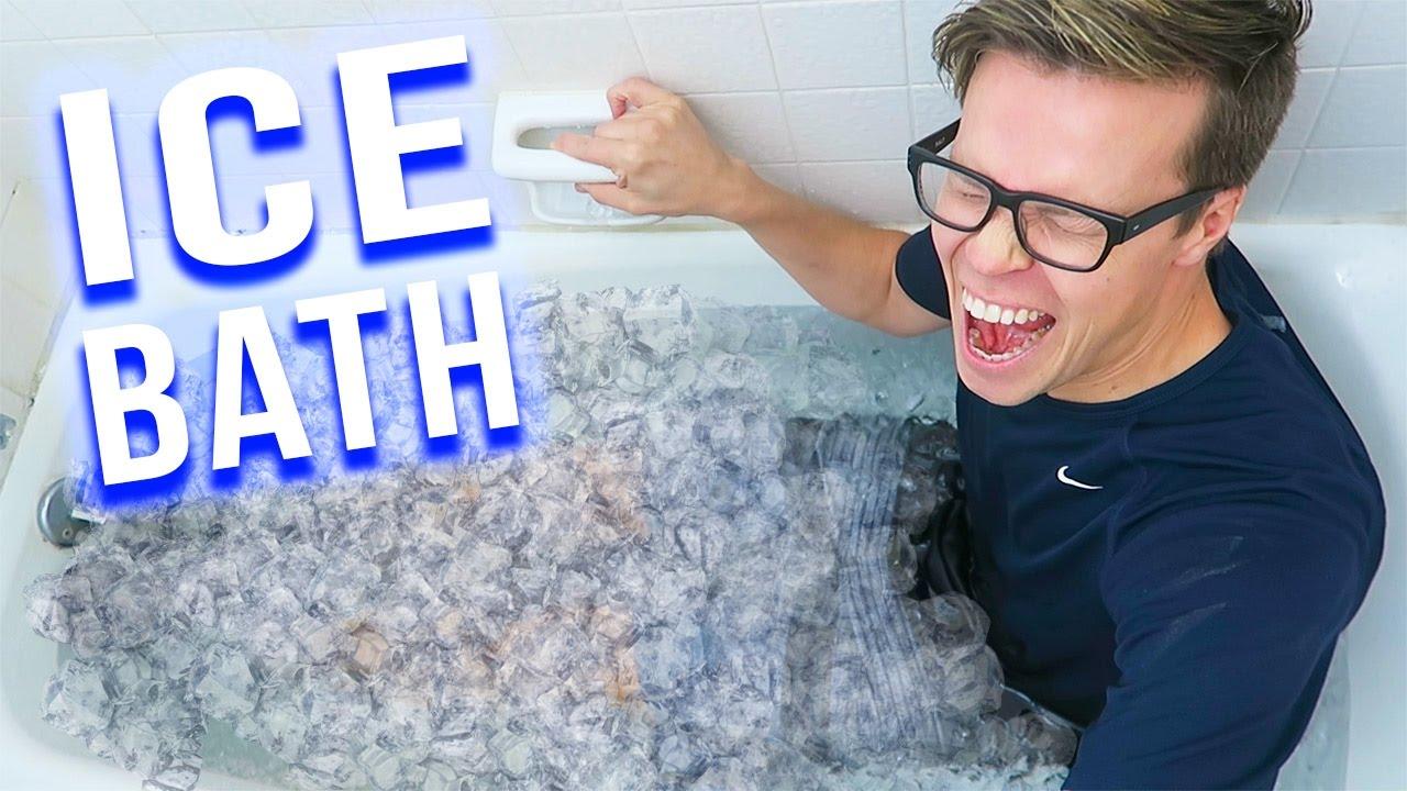 EXTREME ICE BATH CHALLENGE - 100 lbs of ICE - (Day 87)