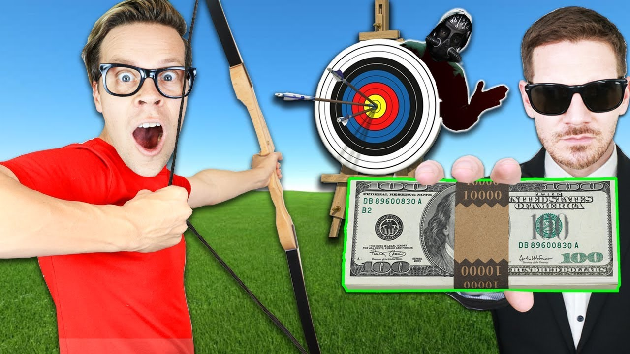 Found Game Master during First to Hit Target Wins $10,000! Best Friend Challenge w/ Matt an Rebecca