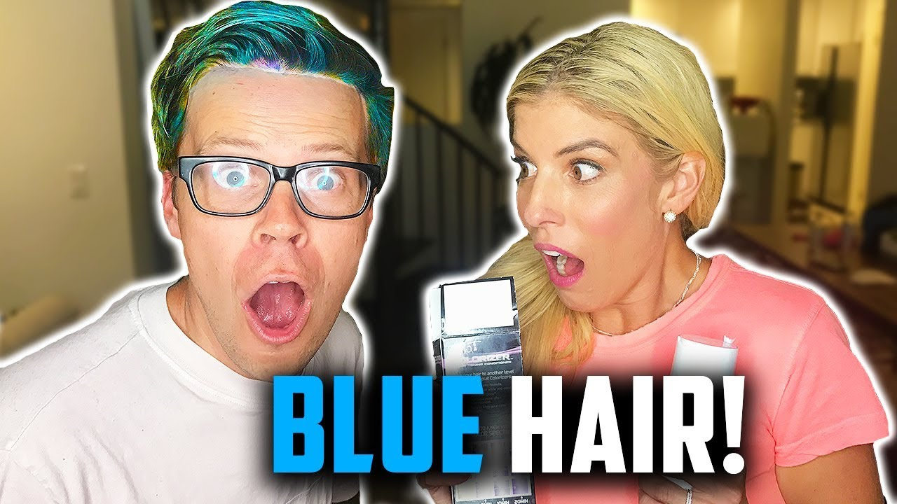 I LOST A BET, DARED TO DYE MY HAIR BLUE AND PURPLE! (DAY 234) TRANSFORMATION REACTIONS!