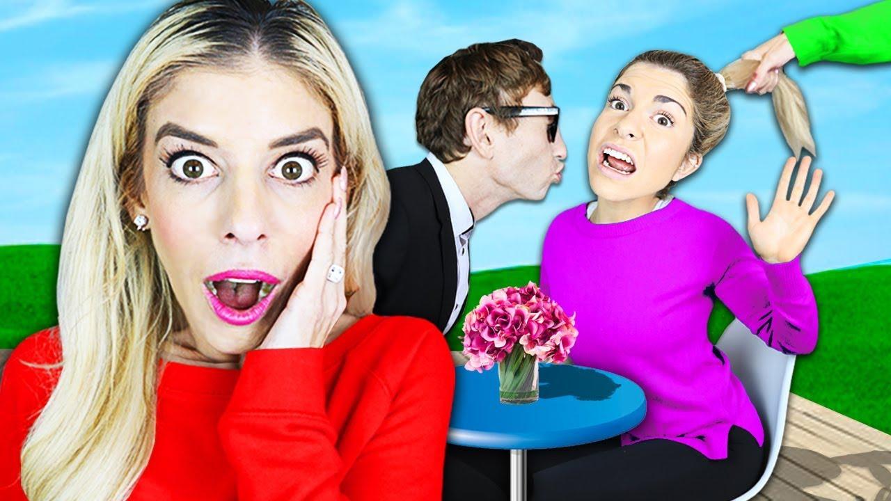 BEST FIRST DATE WINS KISS in Real Life Challenge! (Secret meeting w/ ex Best Friend) Rebecca Zamolo
