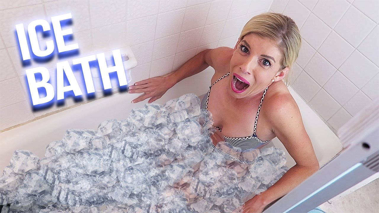 WIFE TAKES EXTREME ICE BATH CHALLENGE, DARE! - (Day 115)