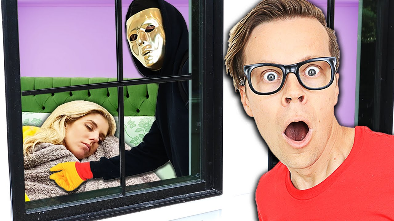 Caught Hackers Spying on Rebecca in Our House! (24 Hours Searching for Clues Challenge Face Reveal)