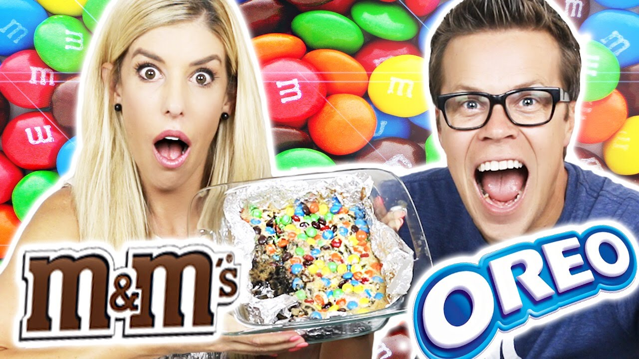 MAKING LOADED M&M's OREO COOKIE BARS!