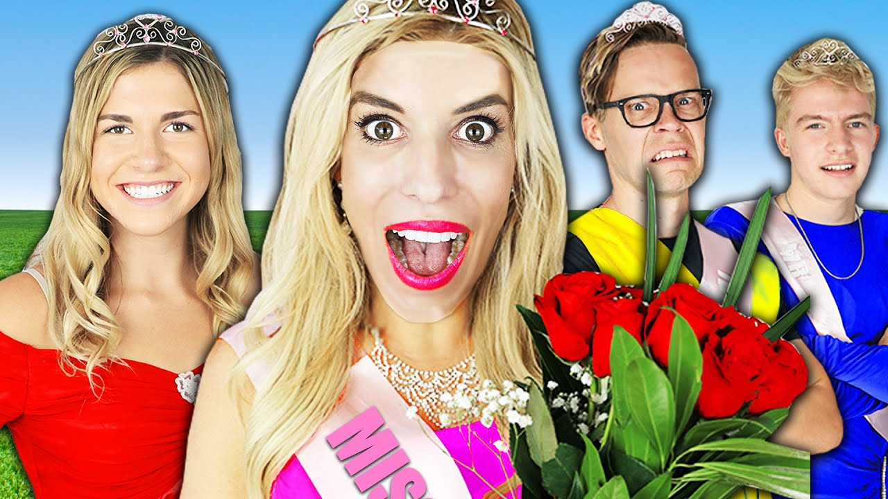 Giant Miss America Beauty Pageant at Home in Real Life to Reveal Secret! | Rebecca Zamolo