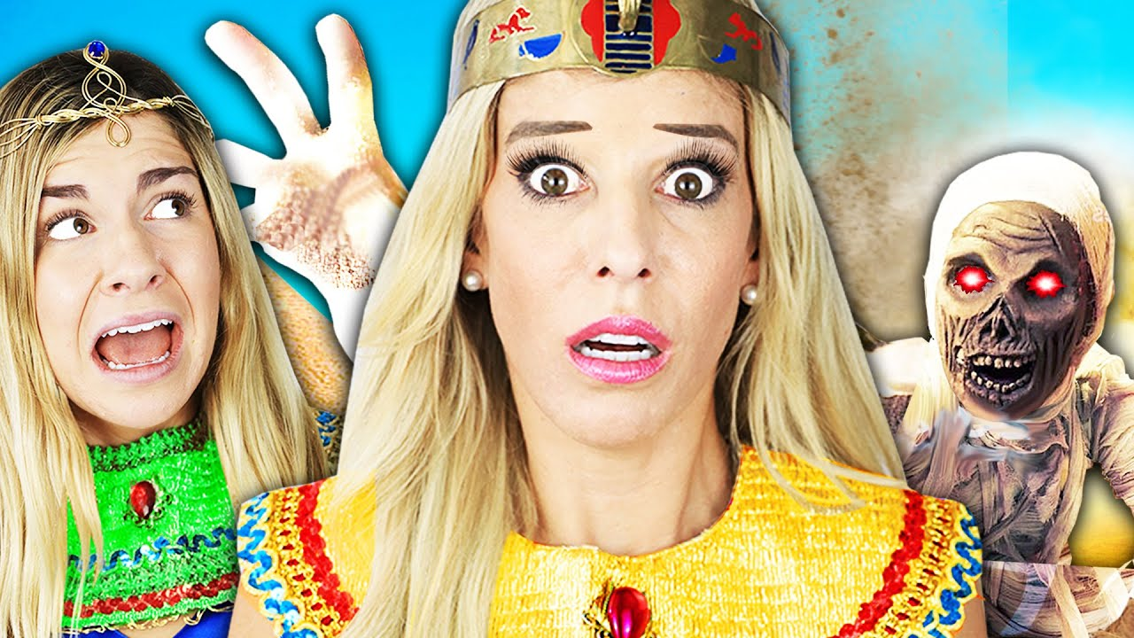 24 Hour Egyptian Princess Challenge to Win Game Master Switch Up Device! Rebecca Zamolo