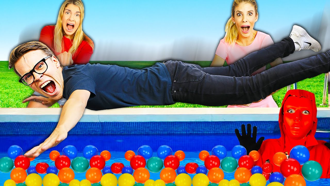 Filling our Entire Pool with Over 10,000 Ball Pit Balls for Face Reveal! Bad Idea