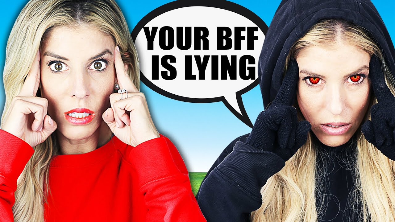 Maddie is A Liar! Twin Telepathy Challenge for Face Reveal of Best Friend on Camera Roll! on The GameMaster.com