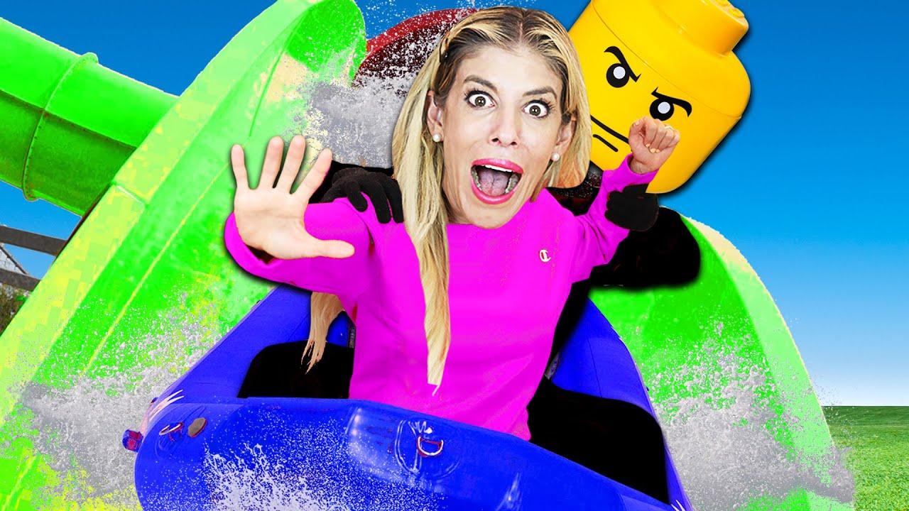 Rebecca Spent 24 Hours inside Giant Waterpark in Mr. Nice Guy's Backyard!
